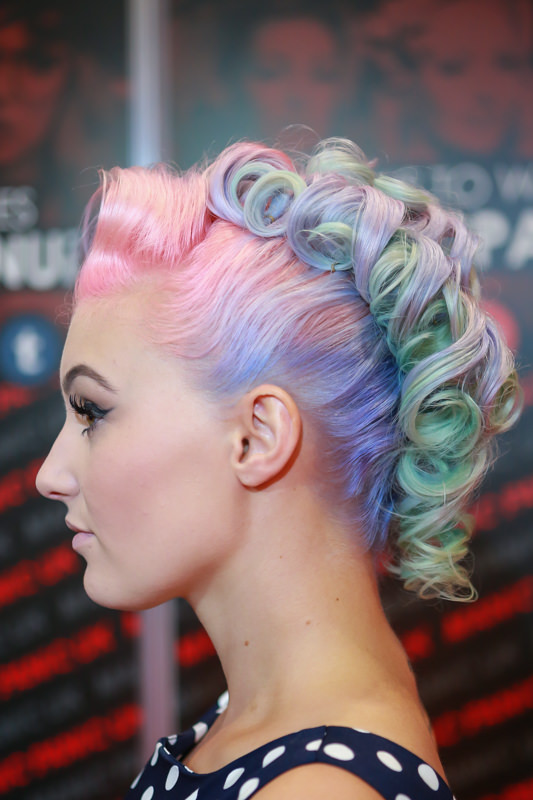 manic panic multi coloured pinup hair